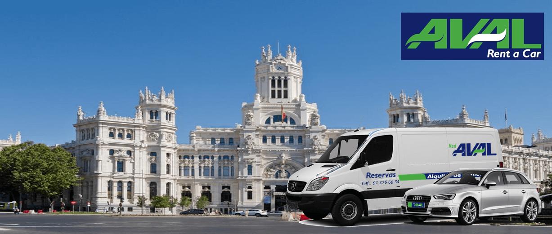 alquiler de coches y furgonetas en Madrid AVAL RENT A CAR